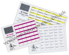 FOOTBALL TEAM SCRATCH CARDS